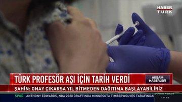 Türk profesör aşı için tarih verdi