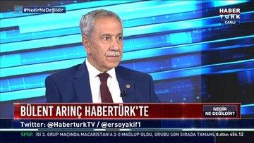 Bülent Arınç, Habertürk'te soruları yanıtladı   Nedir Ne Değildir 19 Kasım 2020