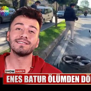 Enes Batur kaza yaptı!