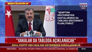 Sağlık Bakanı Fahrettin Koca, Bilim Kurulu toplantısının ardından açıklamalarda bulunuyor