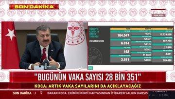 Sağlık Bakanı Fahrettin Koca açıkladı: 24 saatte 28 bin 351 vaka