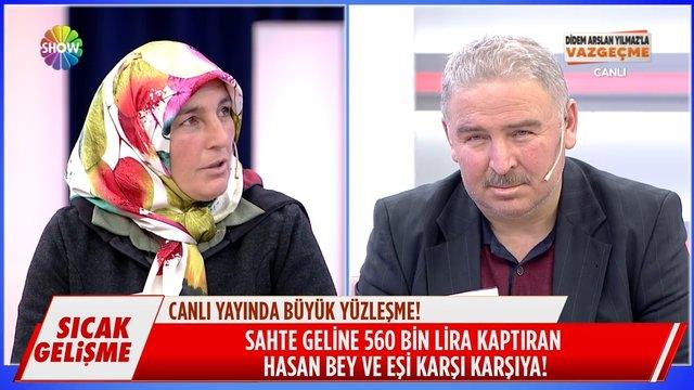 Hasan Bey'in eşi canlı yayında!