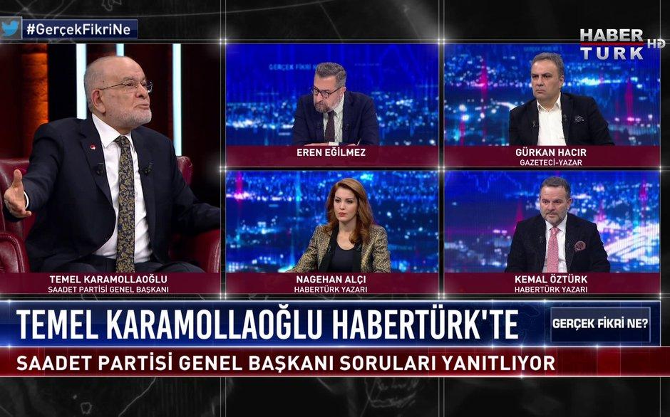 Gerçek Fikri Ne - 27 Kasım 2020 (Saadet Partisi Genel Başkanı Temel Karamollaoğlu Habertürk'te)