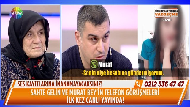 Murat Bey ve sahte gelin adayının telefon görüşmeleri!