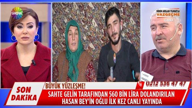 Hasan Bey'in oğlu ilk kez canlı yayında!