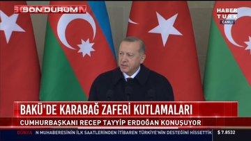 Cumhurbaşkanı Erdoğan: Türk dünyası için zafer ve gurur günüdür