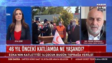 Kıbrıs'ta şehit edilen 14 çocuk toprağa verildi