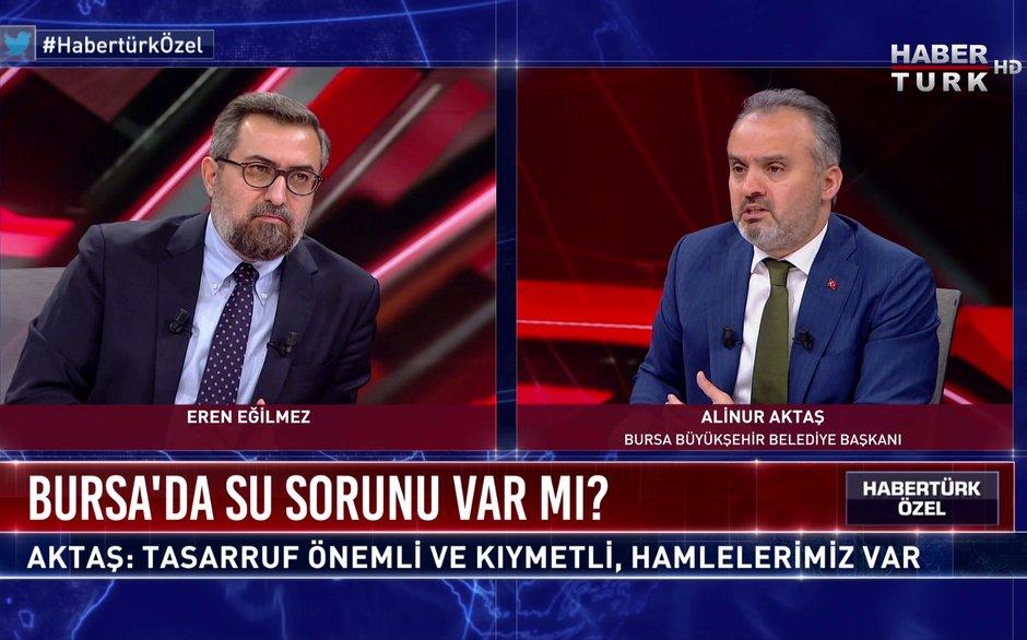 Habertürk Özel - 26 Aralık 2020 (Bursa'da su sorunu var mı? Belediye Başkanı Alinur Aktaş anlatıyor)