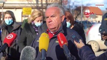 Hırvatistan'da belediye başkanı canlı yayında artçı depreme yakalandı