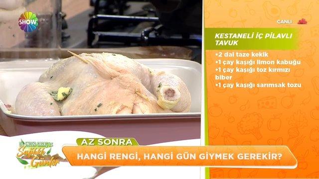Kestaneli İç Pilavlı Tavuk