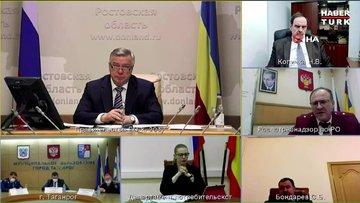 Rusya'da teftiş müdürü Covid-19 toplantısında uyuyakaldı