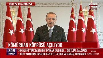 Cumhurbaşkanı Erdoğan Kömürhan Köprüsü açılışında