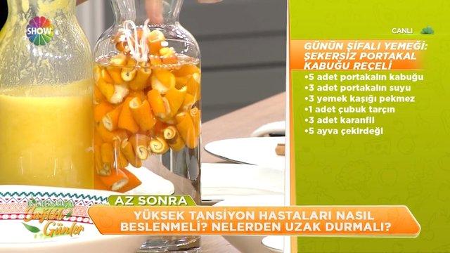 Şekersiz portakal kabuğu reçeli
