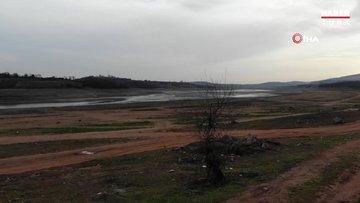 Ömerli Barajı'nda kuraklık görüntülendi