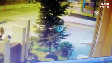 Telsizle polisin başına defalarca vuran saldırganın kamera kayıtları ortaya çıktı