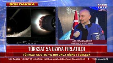 Bakan Karaismailoğlu'ndan TÜRKSAT 5A açıklaması