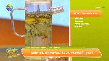 Gripten koruyan ayva yaprağı çayı