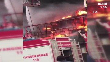 Bursa Merkez Osmangazi ilçesinde bir iş yerinde yangın çıktı