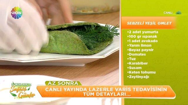 Sebzeli yeşil omlet