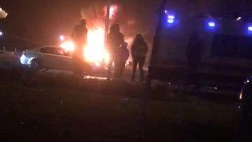 Ordu'da zincirleme kazada araçlar alev topuna döndü: 1 ölü, 2 yaralı
