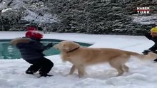 Beren Saat ile Kenan Doğulu'nun kar eğlencesi