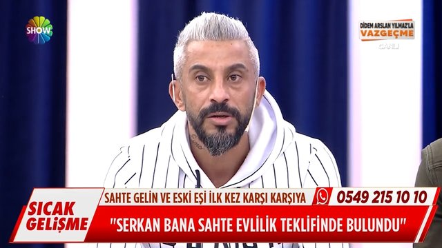 Serkan'ın sahte evlilik yapması teklifinde bulunduğu Arzu Hanım canlı yayında!