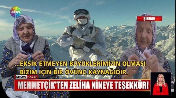 Mehmetçik'ten 117 yaşındaki Zeliha Nineye teşekkür!