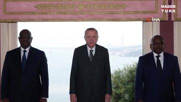 Cumhurbaşkanı Erdoğan, Gine Bissau Cumhurbaşkanı Umaro Sissoco Embalo ve Senegal Cumhurbaşkanı Macky Sall'i kabul etti