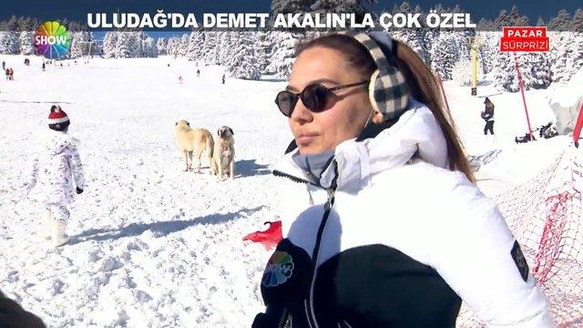 Uludağ'da Demet Akalın'la çok özel!