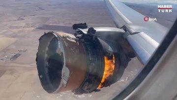 ABD'de yolcu uçağının motoru alev aldı - Uçak motorunun parçaları evin bahçesine düştü