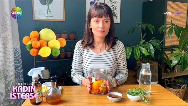 Ebru Akel'le Kadın İsterse Videoları: Evde doğal temizlik ürünü yapımı!