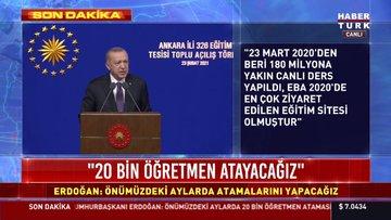 Cumhurbaşkanı Erdoğan'dan 20 bin öğretmen atama müjdesi