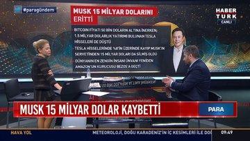 Musk 15 milyar dolar kaybetti