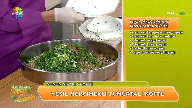 Izgara Mor Lahana ve Yeşil Mercimekli Yumurtalı Köfte tarifi