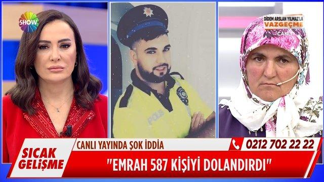 Canlı yayında şok iddia: ''Emrah 587 kişiyi dolandırdı!''