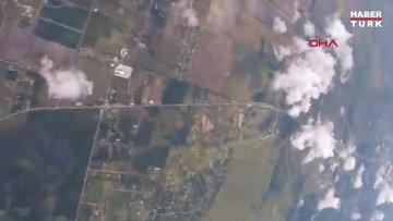 ABD'de paraşütçülerden 4 bin 267 metre yükseklikte pizza keyfi