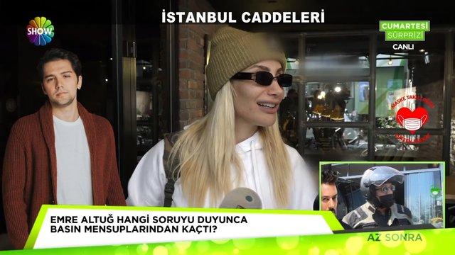 İstanbul caddelerinde ünlü manzaraları!
