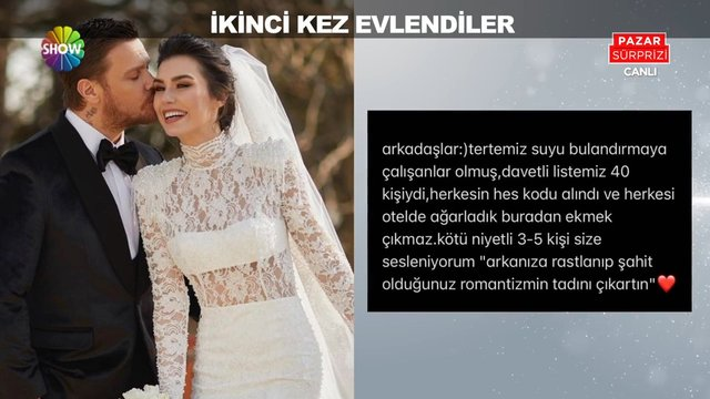 Sinan Akçıl ve Burcu Kıratlı ikinci kez evlendi!