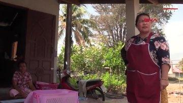 Tayland'da yürüyüşe çıkan kadın milyonluk balina kusmuğu buldu