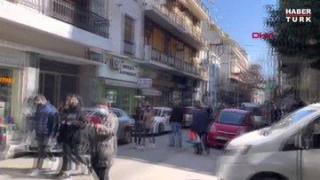 Yunanistan'da 5.9 büyüklüğünde deprem! İşte Yunanistan'daki deprem anı...