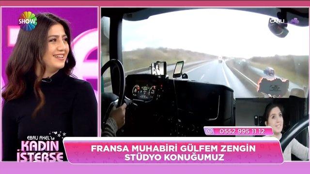 TIR şoförü Gülfem Zengin'in yol maceraları