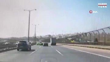 Milyonluk aracıyla makas atarken kaza yaptı