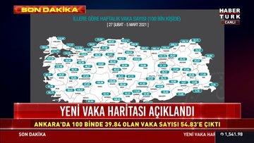 Yeni vaka haritası açıklandı! İstanbul, Ankara ve İzmir'de vaka sayısı ne kadar yükseldi?