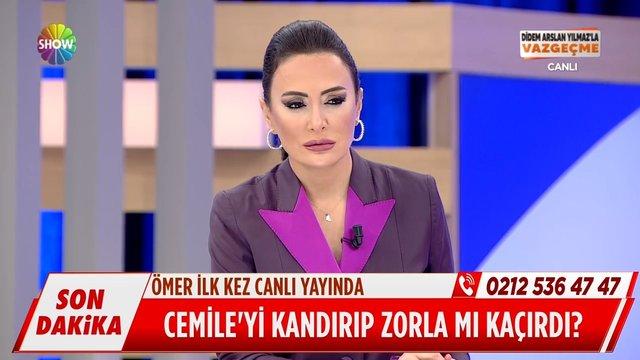 Cemile'yi kaçıran Ömer ilk kez canlı yayında!