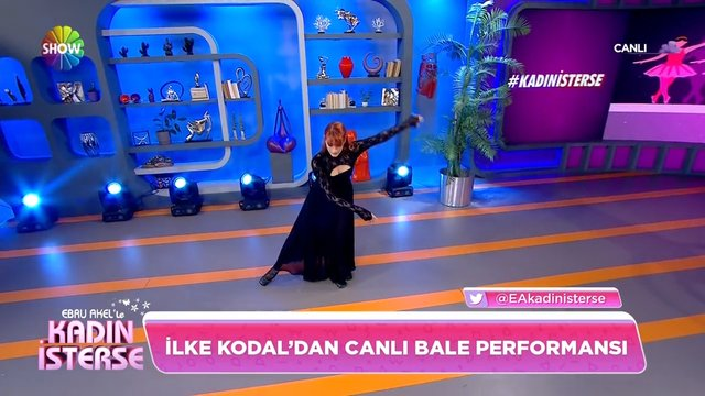 İlke Kodal'dan bale performansı!