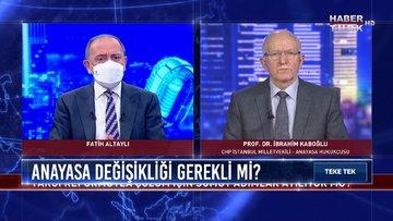 CHP Anayasa taslağını açıklayacak mı? | Teke Tek - 9 Mart 2021