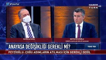 TBB Başkanı Metin Feyzioğlu parti kapatmaya nasıl bakıyor? | Teke Tek - 9 Mart 2021