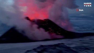 Rusya'daki yanardağ patlaması buzulları eritmeye başladı!