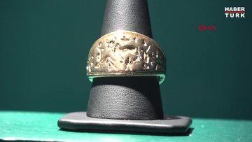 Arkeoloji Müzesinin gözdesi; Hitit dönemine ait altın mühür yüzük