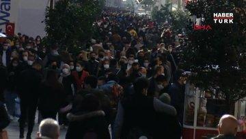 Taksim Meydanı ve İstiklal Caddesi'nde yoğunluk